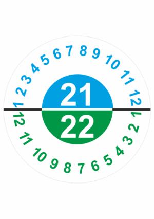 Revizní a kalibrační kolečka - Dvouleté: Kalibrační štítek 2021 / 2022