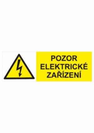 Značení elektro a ESD - Elektro výstrahy: Pozor elektrické zařízení
