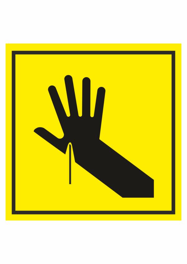 Značení strojů dle ISO 11 684 - Symboly: Nebezpečí propíchnutí ruky