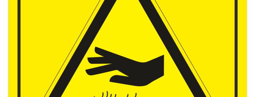 Značení strojů dle ISO 11 684 - Symboly: Nebezpečí popálení