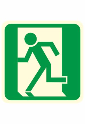 Fotoluminiscenční podlahové značení - Podlahový symbol: Únikový východ vlevo