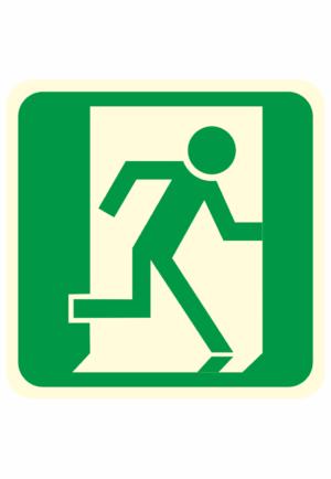 Fotoluminiscenční podlahové značení - Podlahový symbol: Únikový východ vpravo