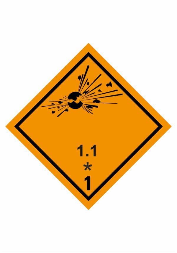 Značení nebezpečných látek a obalů - Symboly ADR: Výbušné látky a předměty (ADR třída 1.1)