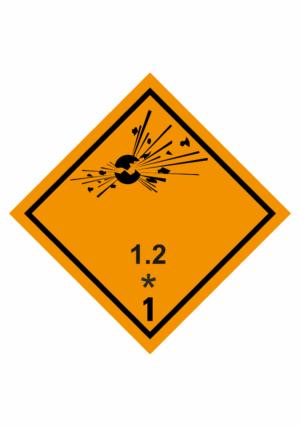 Značení nebezpečných látek a obalů - Symboly ADR: Výbušné látky a předměty (ADR třída 1-1.2.)