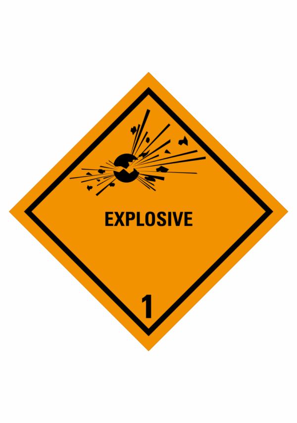 Značení nebezpečných látek a obalů - Symboly ADR: Explosive (ADR Třída 1)