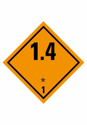 Značení nebezpečných látek a obalů - Symboly ADR: Výbušné látky a předměty (ADR Třída 1-1.4)