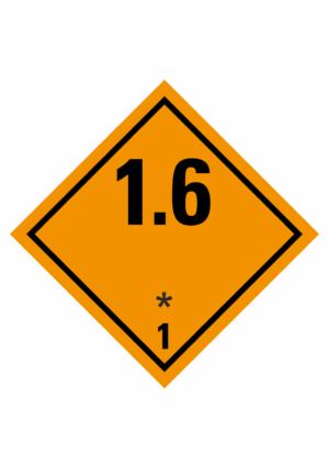Značení nebezpečných látek a obalů - Symboly ADR: Výbušné látky a předměty (ADR Třída 1-1.6)