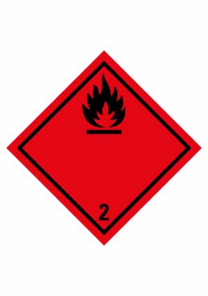 Značení nebezpečných látek a obalů - Symboly ADR: Plyny (ADR Třída 2.1)