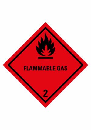 Značení nebezpečných látek a obalů - Symboly ADR: Flammable Gas (ADR Třída 2.1)