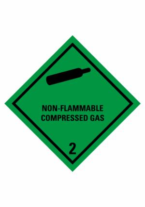 Značení nebezpečných látek a obalů - Symboly ADR: Non-flammable compressed gas (ADR Třída 2.2)