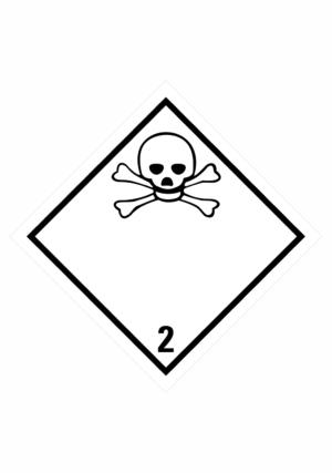 Značení nebezpečných látek a obalů - Symboly ADR: Jedovaté plyny (ADR Třída 2.2)