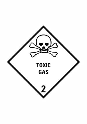 Značení nebezpečných látek a obalů - Symboly ADR: Toxic Gas (ADR Třída 2.2)