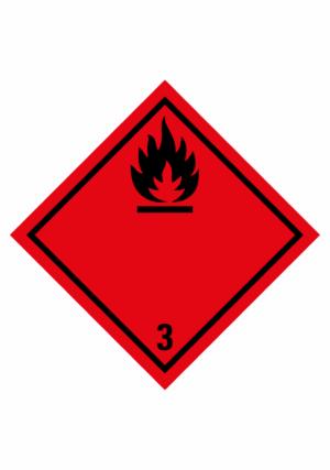 Značení nebezpečných látek a obalů - Symboly ADR: Hořlavé kapaliny (ADR Třída 3)