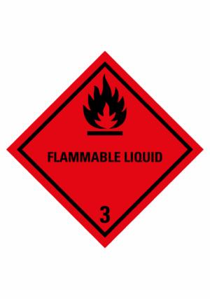 Značení nebezpečných látek a obalů - Symboly ADR: Flammable liquid (ADR Třída 3)