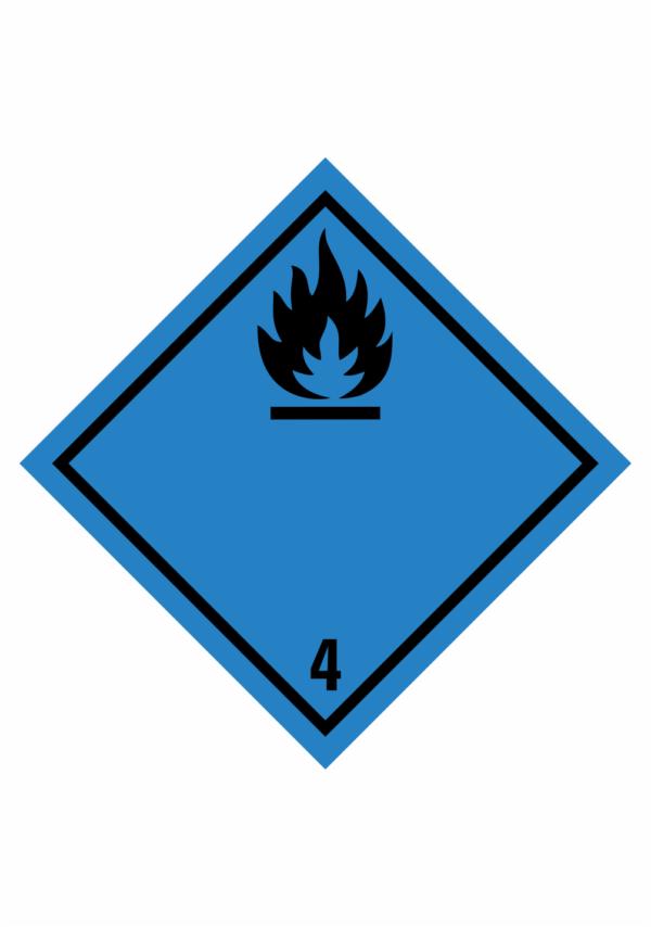 Značení nebezpečných látek a obalů - Symboly ADR: Látky vytvářející hořlavý plyn ve styku s vodou (ADR Třída 4.3)