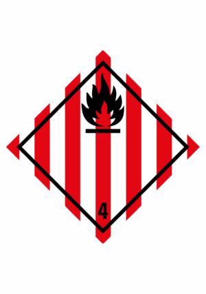 Značení nebezpečných látek a obalů - Symboly ADR: Hořlavé tuhé látky (ADR třída 4.1)