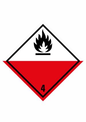 Značení nebezpečných látek a obalů - Symboly ADR: Samozápalné látky (ADR Třída 4.2)