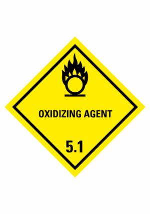 Značení nebezpečných látek a obalů - Symboly ADR: Oxidizing agent (ADR Třída 5.1)