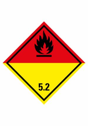 Značení nebezpečných látek a obalů - Symboly ADR: Organické peroxidy (ADR Třída 5.2)