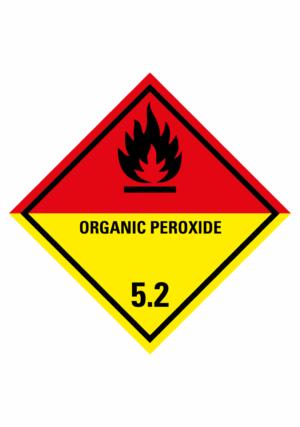 Značení nebezpečných látek a obalů - Symboly ADR: Organic peroxide (ADR Třída 5.2)
