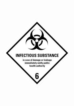 Značení nebezpečných látek a obalů - Symboly ADR: Infectious substance (ADR Třída 6.2)