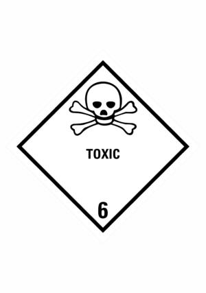 Značení nebezpečných látek a obalů - Symboly ADR: Toxic (ADR Třída 6.1)