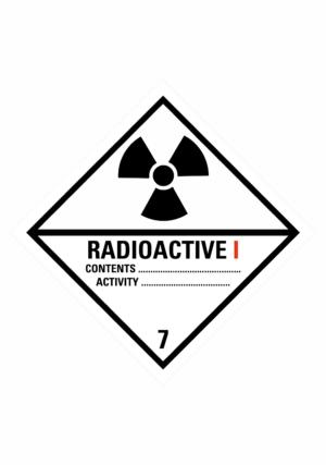 Značení nebezpečných látek a obalů - Symboly ADR: Radioaktivní látky kategorie I (ADR Třída 7)