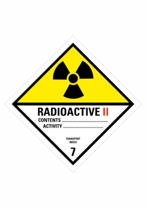 Značení nebezpečných látek a obalů - Symboly ADR: Radioaktivní látky kategorie II (ADR Třída 7)