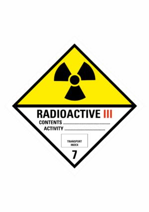 Značení nebezpečných látek a obalů - Symboly ADR: Radioaktivní látky kategorie III (ADR Třída 7)