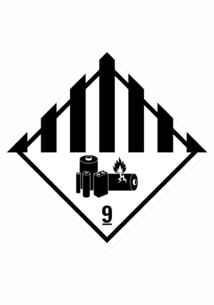 Značení nebezpečných látek a obalů - Symboly ADR: Jiné nebezpečné látky - Baterie (ADR Třída 9)