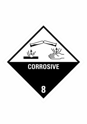 Značení nebezpečných látek a obalů - Symboly ADR: Corrosive (ADR Třída 8)