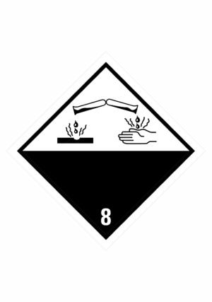 Značení nebezpečných látek a obalů - Symboly ADR: Žíravé látky (ADR Třída 8)