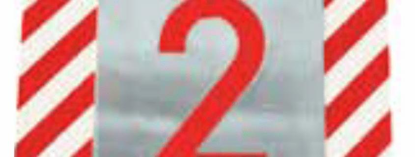 Čísla a písmena - Plechové šablony: Čísla hůlková