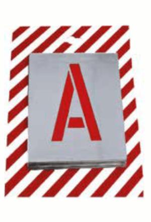 Čísla a písmena - Plechové šablony: Abeceda hůlková - Hůlkové písmo