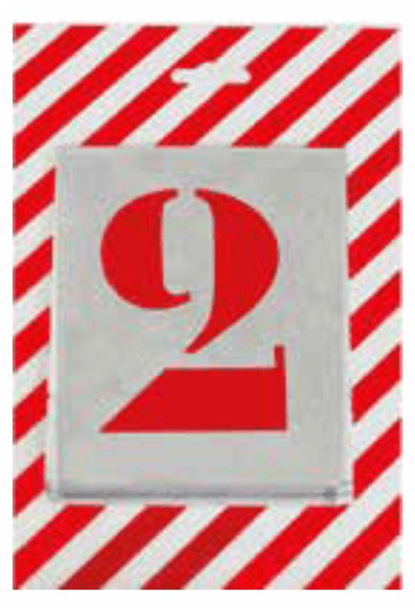 Čísla a písmena - Plechové šablony: Čísla verzálka - Patkové písmo