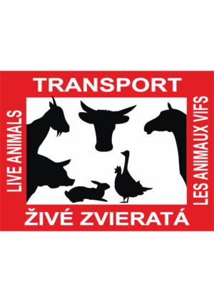 Značení vozidel: Transport živých zvířat