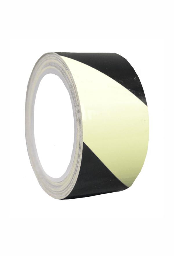 Fotoluminiscenční podlahové značení - Podlahová páska: Výstražná páska
