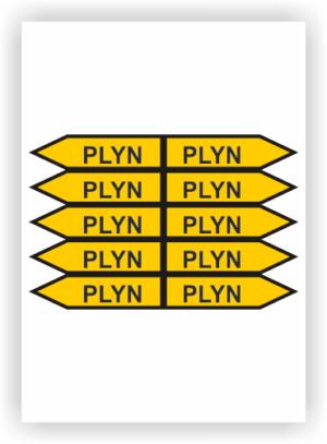 Jednosměrné šipky PLYN