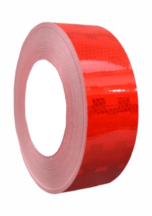 Značení vozidel - Označení nákladních automobilů: Mikroprismatická reflexní páska červená