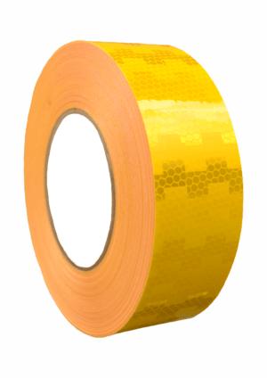 Značení vozidel - Označení nákladních automobilů: Mikroprismatická reflexní páska žlutá