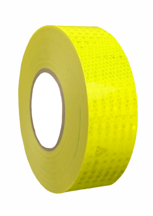 Značení vozidel - Označení nákladních automobilů: Reflexní mikroprismatická páska fluorescenční žlutá
