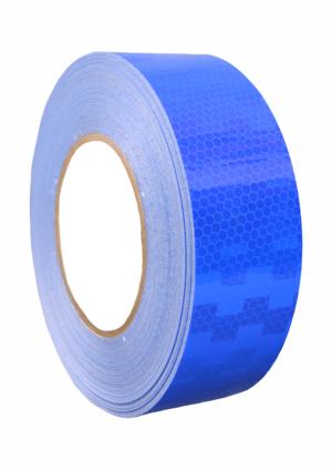 Značení vozidel - Označení nákladních automobilů: Reflexní mikroprismatická páska modrá