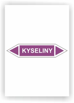 Potrubní oboustranné šipky- KYSELINY