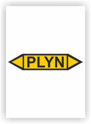 Potrubní oboustranné šipky- PLYN