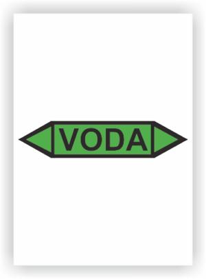 Potrubní oboustranné šipky - VODA
