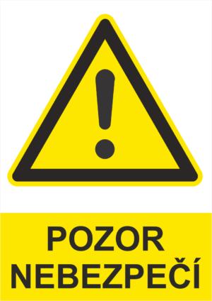 Výstraha Pozor nebezpečí