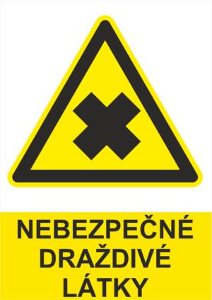 Výstraha Nebezpečné nebo dráždivé látky