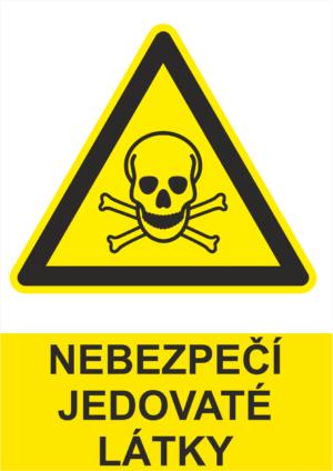 Výstraha Jedovaté látky