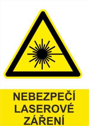 Výstraha Laserové záření