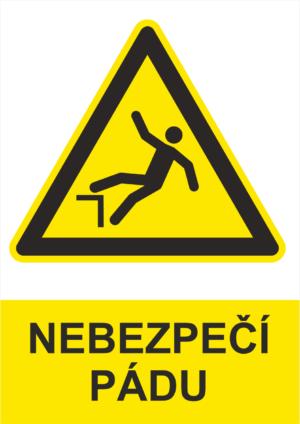Výstraha Nebezpečí pádu